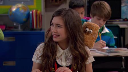 girl meets world season 3 sides 1x05 wes side story maya's new york city girl top and orange lace jacket on girl meets world maya's blue printed long sleeve dress on girl meets world.